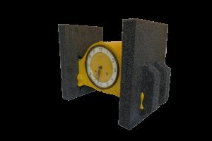 Klok met endcaps van Stratocell EcoPure materiaal